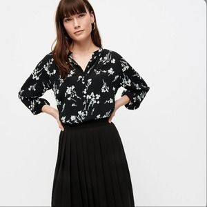 NWT J.CREW long sleeve floral popover blouse